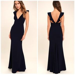 Lulus maxi evening dress,gown  perfect opportunity